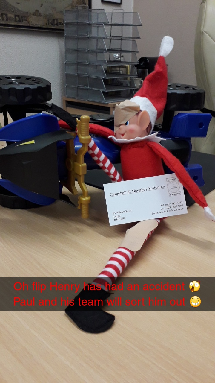 Henry the Elf- Campbell and Haughey Solicitors, Lurgan